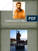 Marcelo H Del Pilar Powerpoint Presentation - A Report on His Life