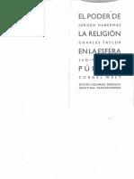 EL ´PODER DE LA RELIGION EN LA ESFERA PUBLICA