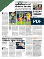 La Gazzetta dello Sport 07-01-2016 - Intervista a Tesser
