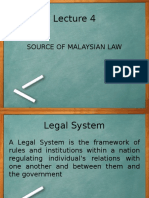 UNIT 1 Lecture 4 SOURCE OF MALAYSIAN LAW.ppt