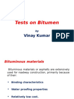 Bitumen testing method