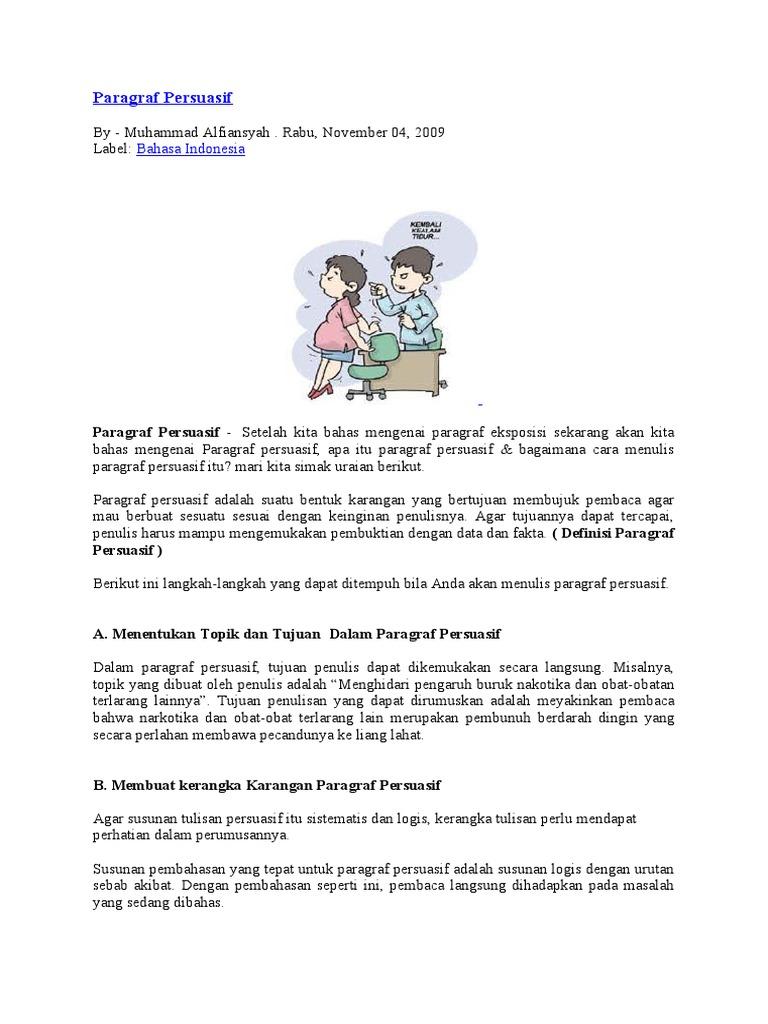 Contoh Paragraf Eksposisi Sebab Akibat Dalam Bahasa Jawa Vinny