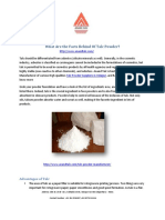 What Are the Facts Behind of Talc Powder