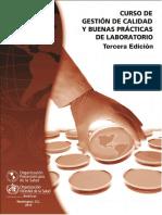 Curso de Gestion de Calidad y Buenas Prácticas de Laboratorio 3 Ed