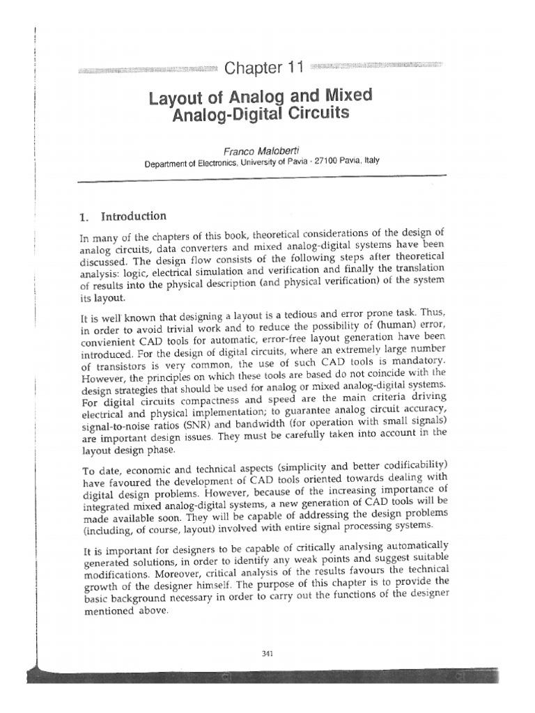 Maloberti F Layout Of Analog And Mixed Digital Circuitspdf Circuits