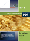 Dailly Commodity News Latter 9-1-2017