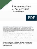 Pertemuan 6 - Model Kepemimpinan Islam