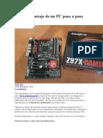 Guía de Montaje de Un PC Paso a Paso