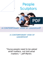 A CONTEMPORARY VIEW OF LEADERSHIP | peoplesculptors.com