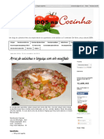 Arroz de Salsichas e Linguiça Com Ovo Escalfado