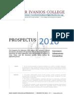 Mar Ivanios College Prospectus 2016