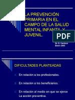 LA PREVENCIÓN PRIMARIA EN EL CAMPO DE LA.ppt