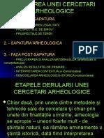 ETAPECERCETARHEOLOGICE