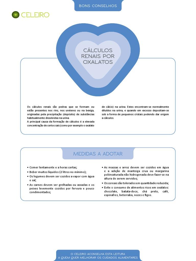 Alimentos ricos em oxalato de calcio pdf