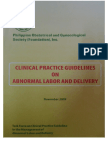 CPG-Abnormal Labor and Delivery 2009