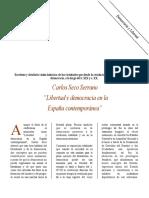 """""""Libertad y democracia en la España contemporánea"""""""