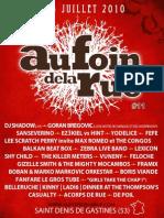 Programme Au Foin de la Rue 2010