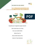 Guía Diáctica MOOC Educando a Preadolescentes en Hábitos Alimenticios Saludables