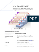 What is SDLC or Waterfall Model
