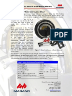 Solar Car Wheel Motor Information Sheet
