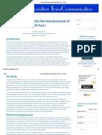 A Research Study Into the Interpretation of EVP Part 1 - ATransC