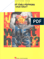 Libro de Partituras de Guitarra de RED HOT CHILI PEPPERS- What Hits