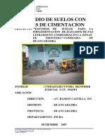 Estudio de Suelo Huancabamba