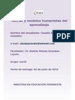Teorias y Modelos Humanistas Del Aprendizaje
