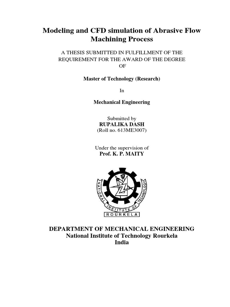 nit rourkela mechanical thesis