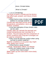 climate guided notes
