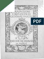 Pascoli Traduzioni&Riduzioni 1913