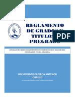 Reglamento de Grados y Titulos 2016