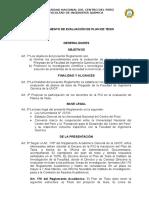 Propuesta de Reglamento de Plan de Tesis y Tesis