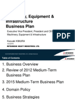 Mitsubishi Heavy Equipment Machinery, Equipment and InfrastructureBusiness Plan
