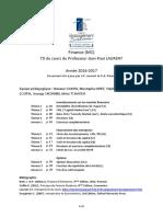 Paris1 - M1 TD GeFi - 2016-2017 - Enoncés