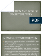 Acquisition and Loss of State Territory