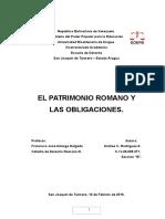 El Patrimonio Romano y Las Obligaciones