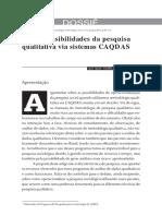 Novas possibilidades da pesquisa qualitativa via sistemas Caqdas