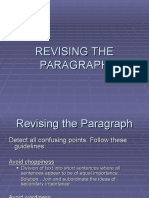 Revising the Paragraph