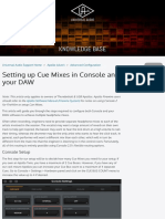 Setting Up Cue Mixes in Console and Your DAW – Universal Audio Support Home