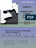 Organic Chemistry Ch 18 Clicker Questions
