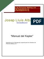 Manual Del Kepler J.L. Albareda