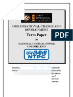 Term Paper On NATIONAL THERMAL POWER CORPORATION