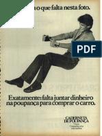 Caderneta de Poupança Cef 1980