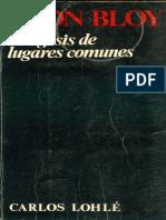 Bloy, León - Exégesis de Los Lugares Comunes