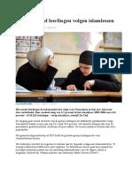 dubbel zoveel leerlingen volgen islamlessen