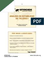 Analisis de Estabilidad i - Intercade