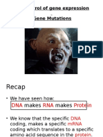 3.8 Control of Gene Expression
