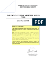 Oil Failure Analysis of a Ruptured Boiler Tube
