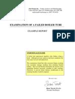 Oil Examination of a Failed Boiler Tube